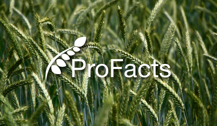 ProFacts logo over field of wheat.